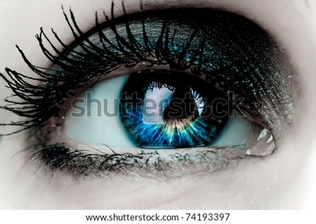 woman eye - stock photo