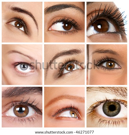 woman eye. close up - stock photo