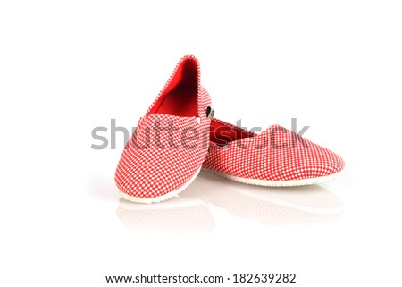woman fashion slip on shoes  - stock photo