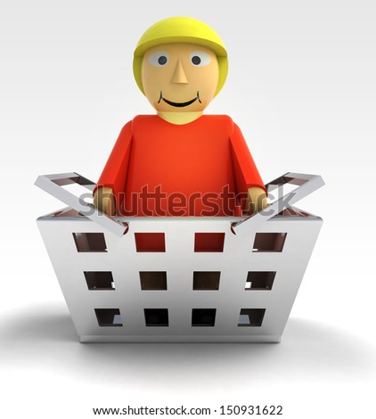woman figure character as trade merchandise illustration - stock photo