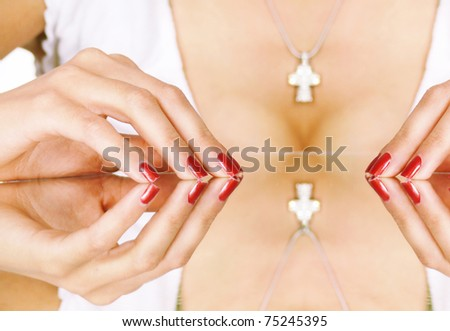 Woman fingers - stock photo