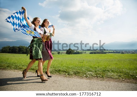 woman from bavaria - stock photo
