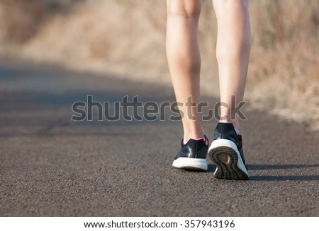 Woman going for a walk.