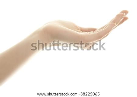 Woman hand. - stock photo