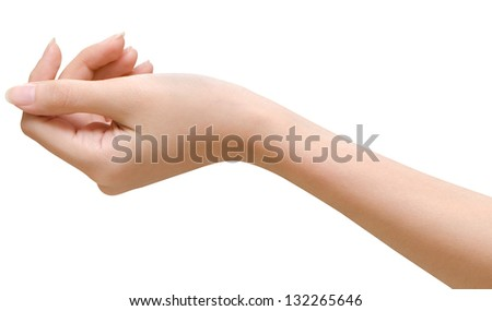 Woman hand holding - stock photo