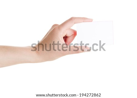 Woman hand measuring invisible items on white background