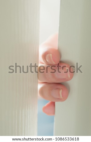 woman hand or finger pinched by the door; close up portrait of finger pinched & Woman Hand Finger Pinched By Door Stock Photo 1086533618 - Shutterstock