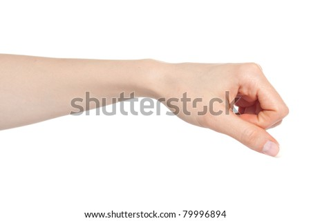 Woman hand with fingers folded into a fist - stock photo