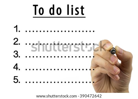 Woman hand writing To do list with black pen