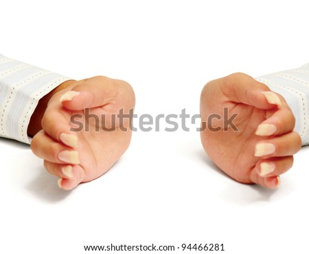Woman hands as if holding something
