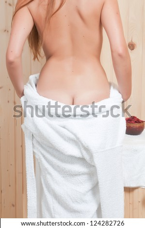 woman having body care in an spa or sauna relaxing - stock photo