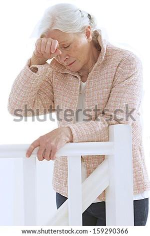 woman having discomfort- loneliness symbol  - stock photo