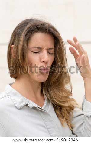 woman having strong pain