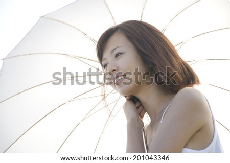 Woman holding a parasol
