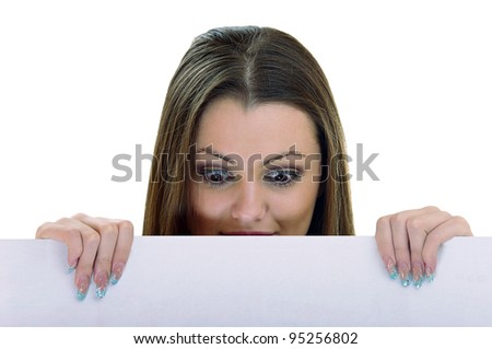 Woman holding a sheet of paper