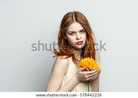 Woman Holding Flowers Stock Images, Royalty-Free Images ...
