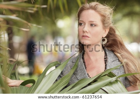 Woman in a nature setting