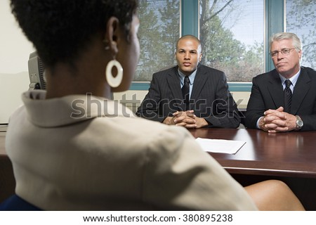 Woman in an interview