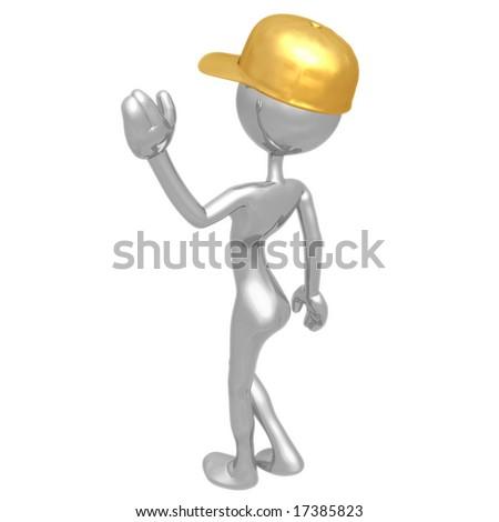 Woman In Baseball Cap - stock photo