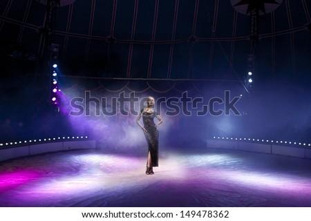 Woman in circus - stock photo