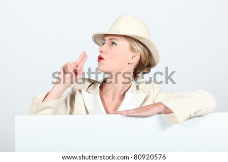 woman in costume - stock photo