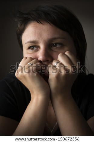 Woman in depression.  - stock photo