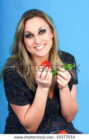 woman in dilemma - stock photo