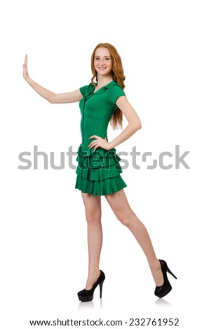 Woman in fashion clothing concept - stock photo