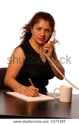 woman in office  customer service - stock photo