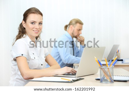 Woman in office workplace