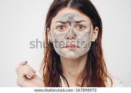 Woman in the cleaning face mask