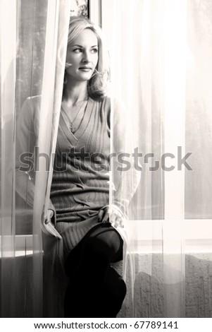 woman in the house - stock photo