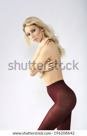 woman in tights - stock photo
