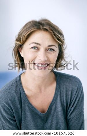 Woman Indoors - stock photo