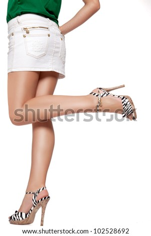 Woman is waiting - stock photo