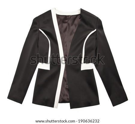 woman jacket isolated background - stock photo