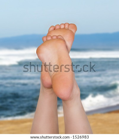 Woman laying in the sun at the beach