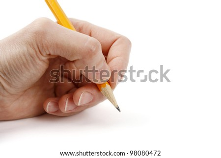 Left Hand Image Woman Left Hand With Pen And