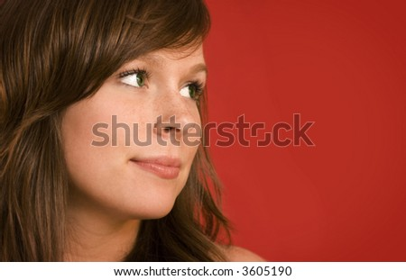 woman looking away - stock photo