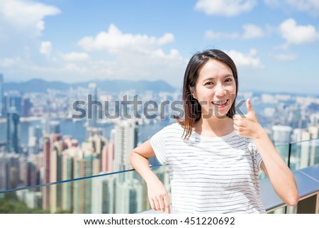 Woman love to visiting in Hong Kong