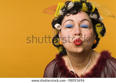 Woman of passion - stock photo