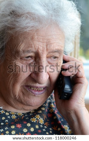 woman on phone - stock photo