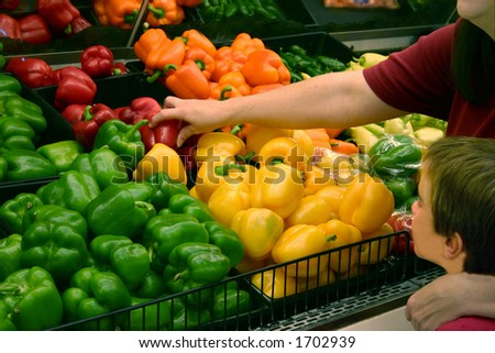 Woman Picking out Produce