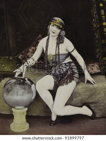 Woman posing - stock photo