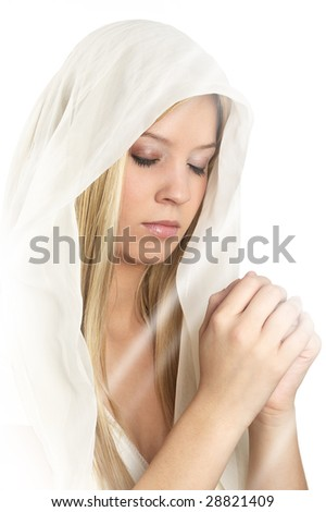 woman praying - stock photo