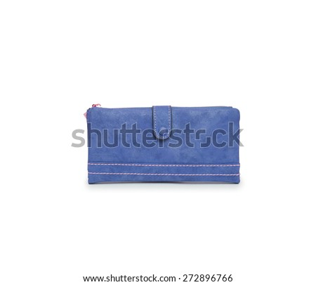 Woman purse (wallet) isolated on the white background - stock photo