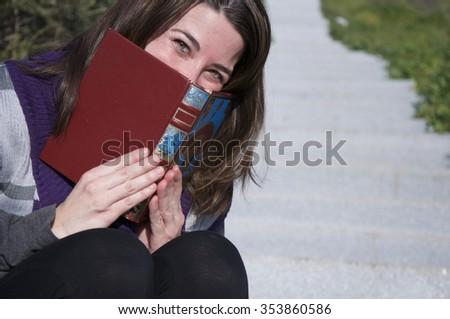 Woman Reading - stock photo