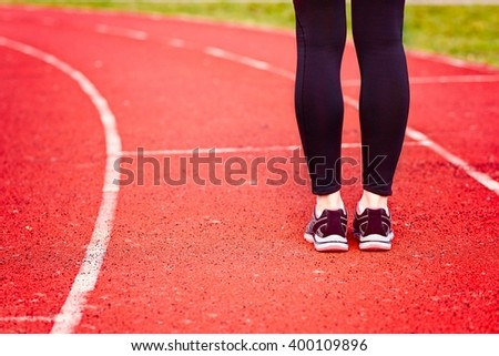 Woman run training outdoors.  Health and sport concept.