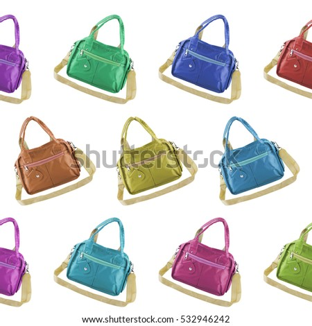 woman's bag isolated on white background