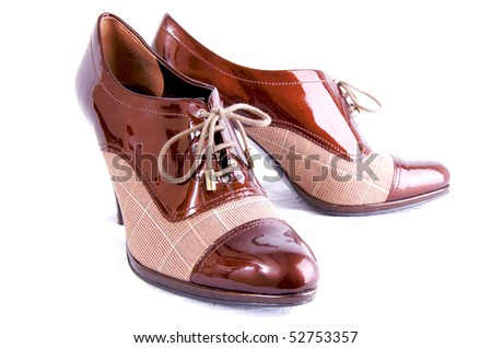 Woman's Business Shoes Isolated - stock photo